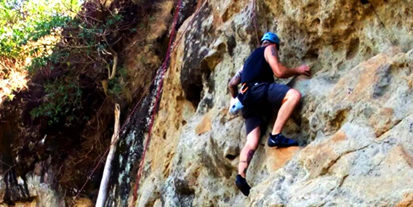 Abseiling and Rock climbing on a 1 day sipi falls adventure trip